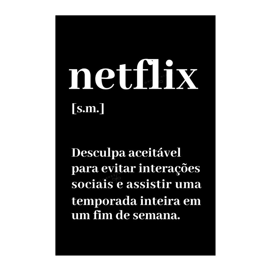 Quadro  Netflix  - Black