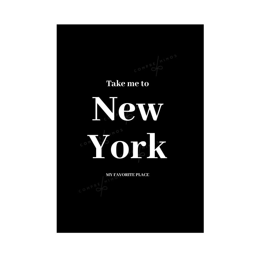 Quadro New York Black