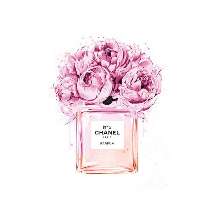 Quadro Perfume Chanel Flowers