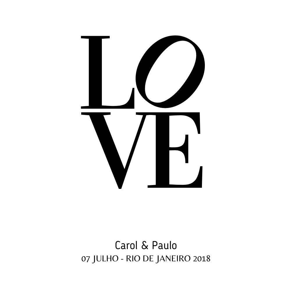 Quadro Para Personalizar - Love Casal