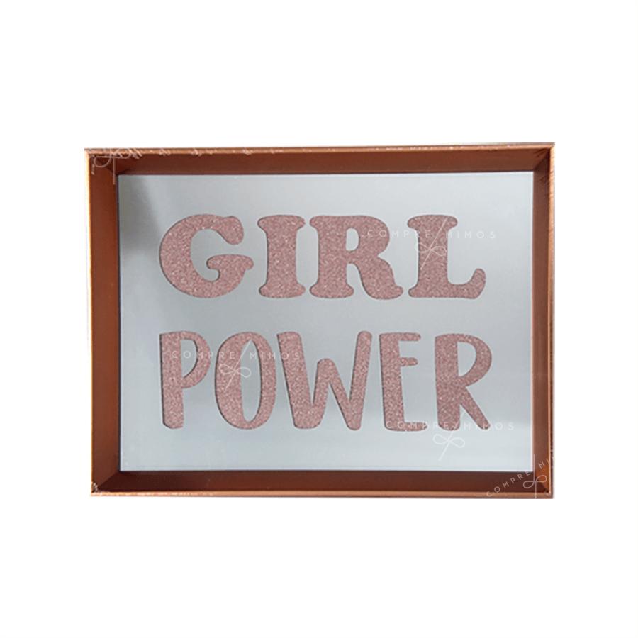 Quadro Espelhado Rose Gold - Girl Power
