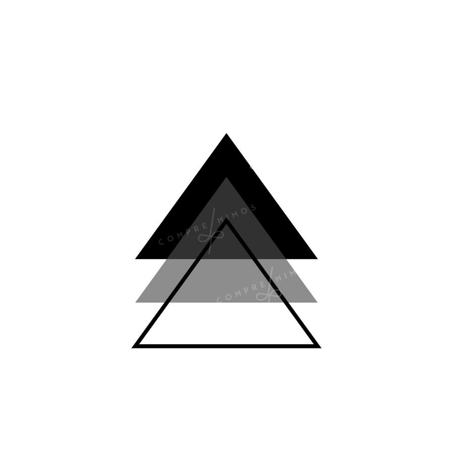 Quadro Triângulo Trio
