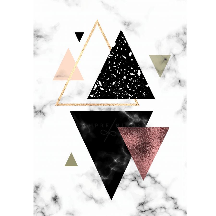 Quadro Triângulos Calacata