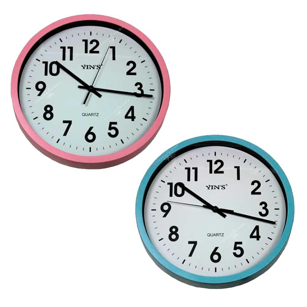 Relógio de Parede Rosa ou Azul - 31cm  Un