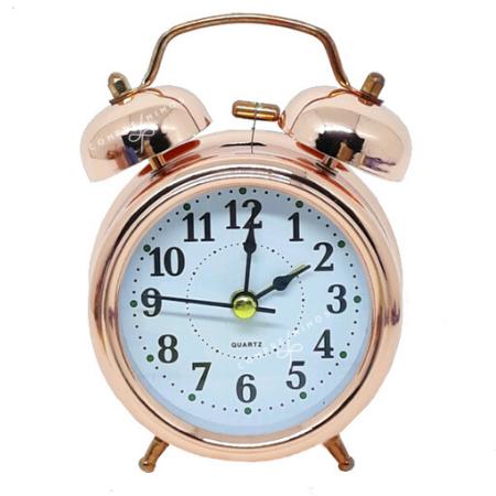 Relógio de Mesa Despertador Vintage - Rose Gold