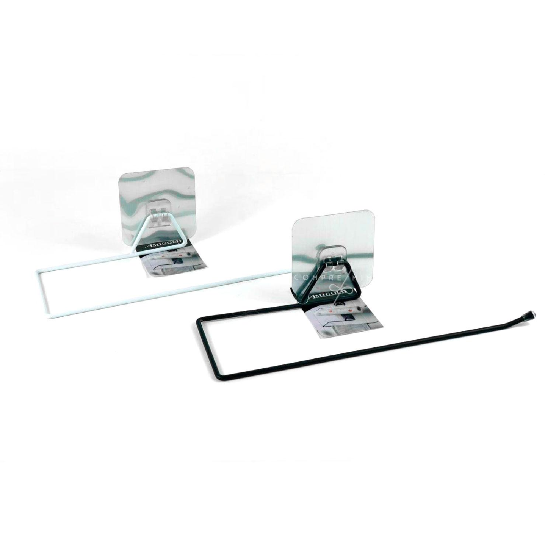 Suporte Gancho em Metal para Cozinha - Branco ou Preto - 9x30cm