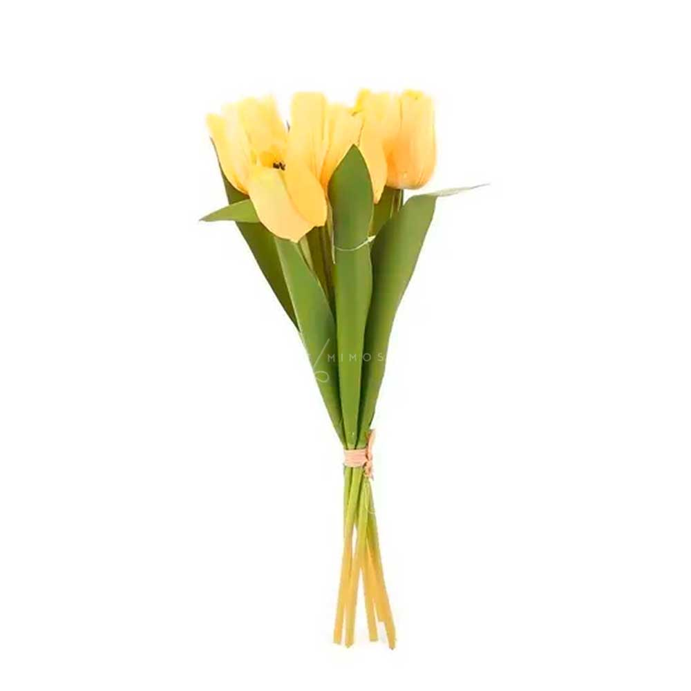 Tulipa Amarela Haste Permanente - Unitário