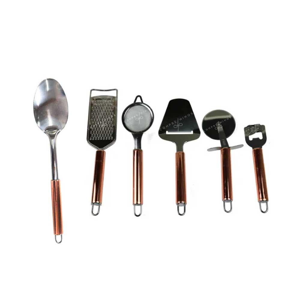 Utensílios de Cozinha Inox - Coleção Catcher Rosê - Unitário