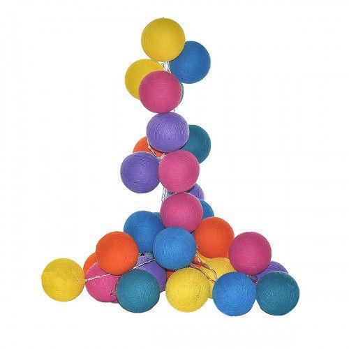 Varal De Luzes String Lights Coloridas - 8 Bolas