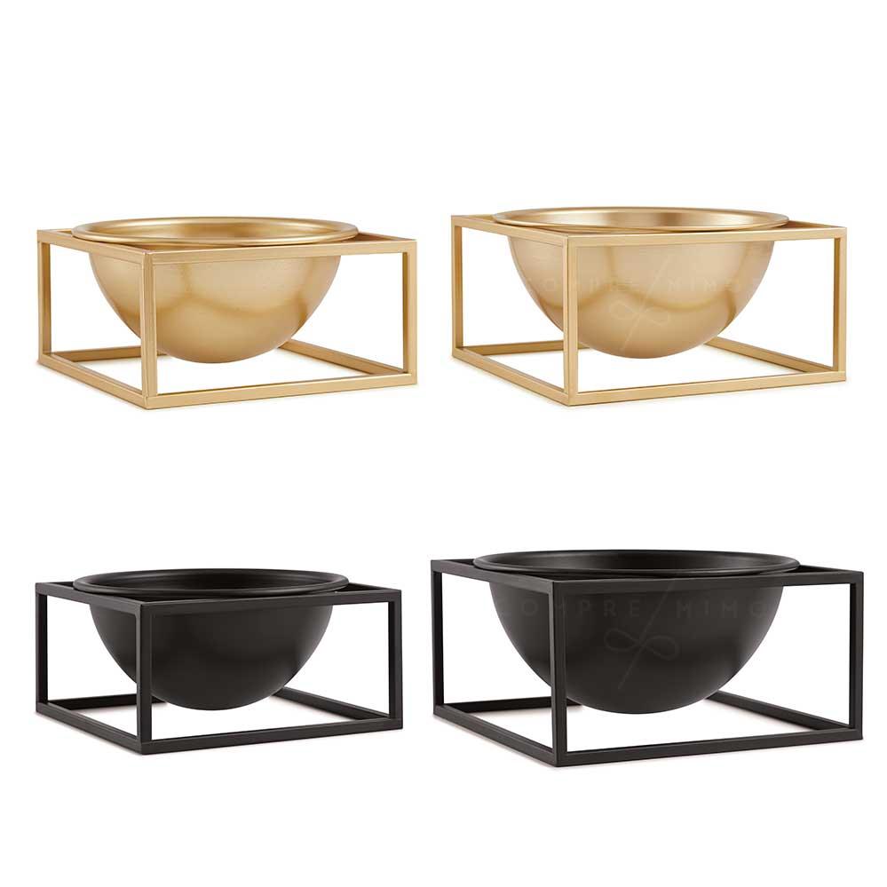 Vaso Cubo em Metal - Black ou Dourado - M ou G