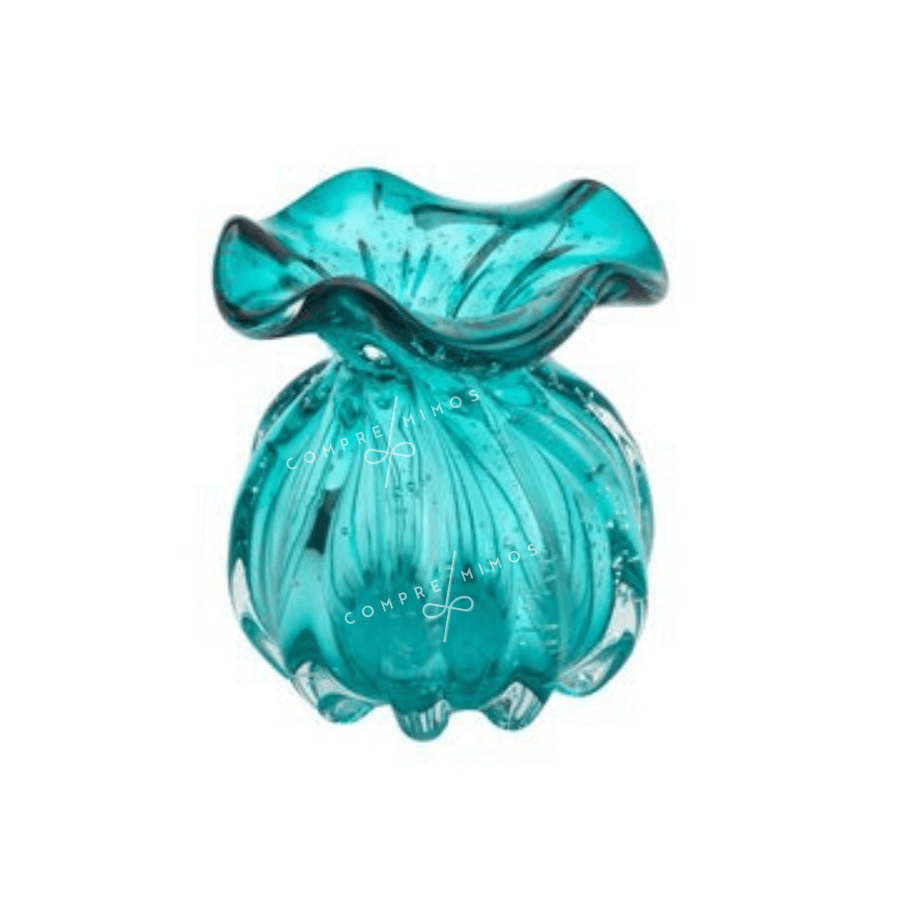 Vaso de Vidro Tipo Murano - Tiffany