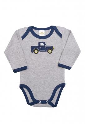 Body Best Club Baby cinza com bordado carro