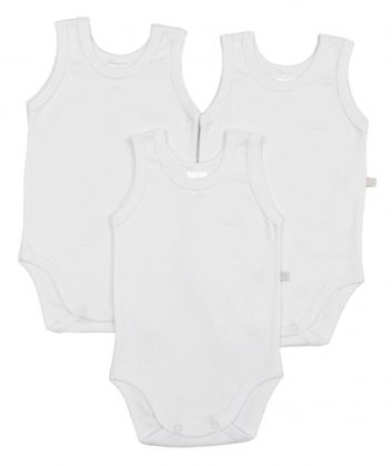 Kit 3 peças body regata Best Club Baby branco