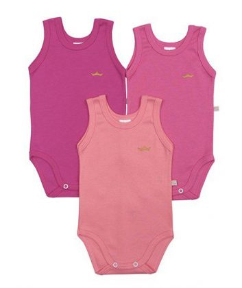 Kit 3 peças body regata Best Club Baby pink