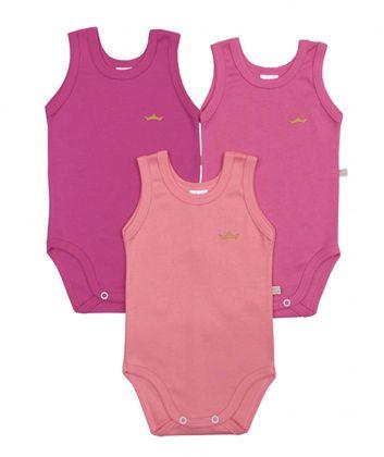Kit 3 peças body regata Best Club Baby pink