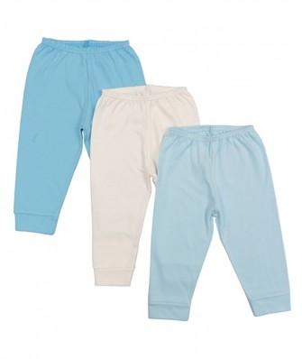 Kit 3 peças calça Best Club Baby azul bebê e creme