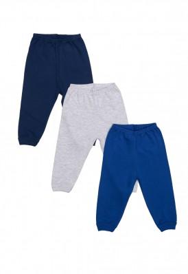 Kit 3 Peças Calça Best Club Baby azul marinho, azul e cinza claro