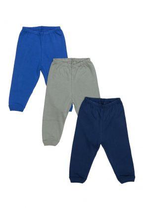 Kit 3 Peças Calça Best Club Baby azul marinho, azul e verde