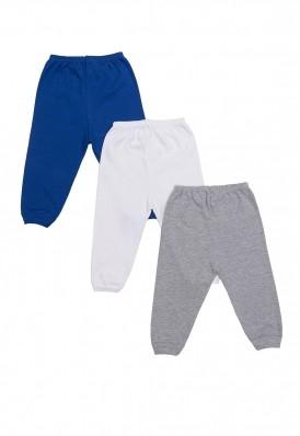 Kit 3 Peças Calça Best Club Baby cinza, azul e branco