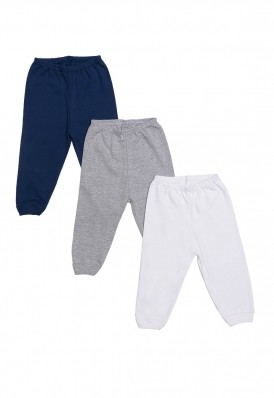 Kit 3 Peças Calça Best Club Baby cinza, azul marinho e branco