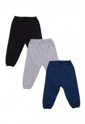 Kit 3 Peças Calça Best Club Baby cinza, azul marinho e preto