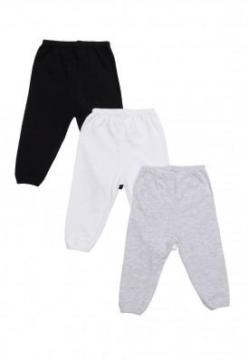 Kit 3 Peças Calça Best Club Baby cinza claro, preto e branco
