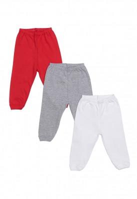 Kit 3 Peças Calça Best Club Baby cinza, vermelho e branco