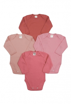 Kit 4 peças body Best Club Baby rosa