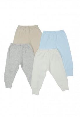 Kit 4 peças calça Best Club Baby azul bebê e creme