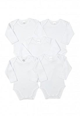 Kit 5 peças body manga longa Best Club Baby branco