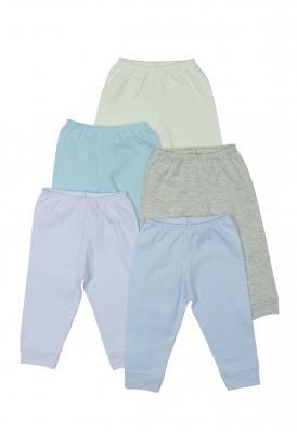 Kit 5 peças calça Best Club Baby azul bebê e branco
