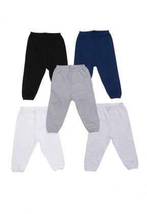 Kit 5 peças calça Best Club Baby branco, cinza e preto