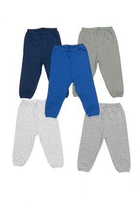 Kit 5 peças calça Best Club Baby cinza, azul e verde