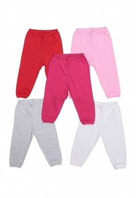 Kit 5 peças calça Best Club Baby pink, vermelho e branco