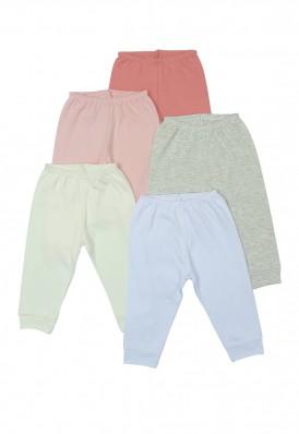 Kit 5 peças calça Best Club Baby rosa bebê e branco