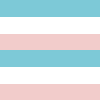 Listrado Azul Turquesa, Branco e Rosa
