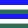 Listrado Azul, Branco e Verde