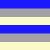Listrado Azul, Cinza e Creme