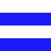 Listrado Branco com Azul