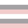 Listrado Branco, Cinza e Rosa Bebê