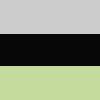 Listrado Cinza, Preto e Verde
