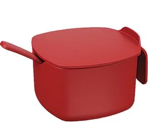 Açucareiro Due Com Colher 350g Vermelho