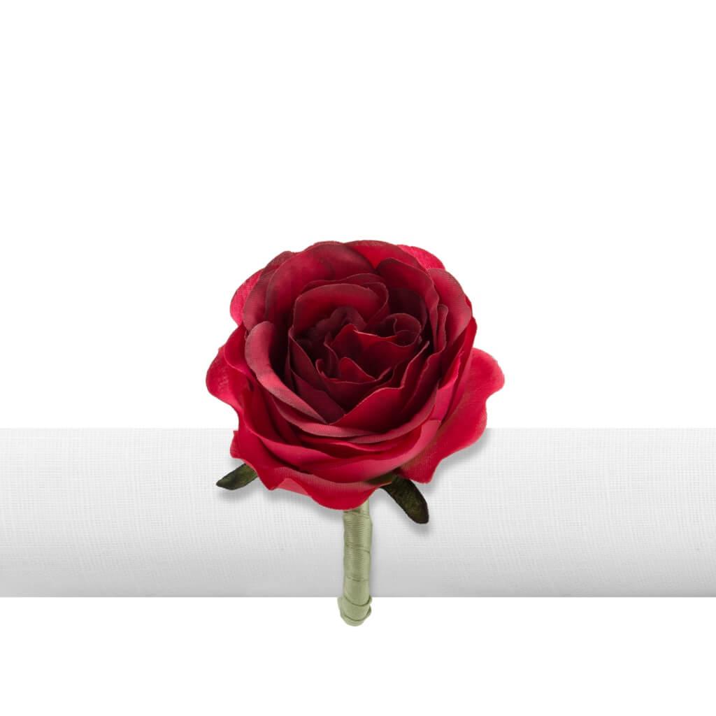 Argola de Guardanapo Primavera Rosa Vermelha