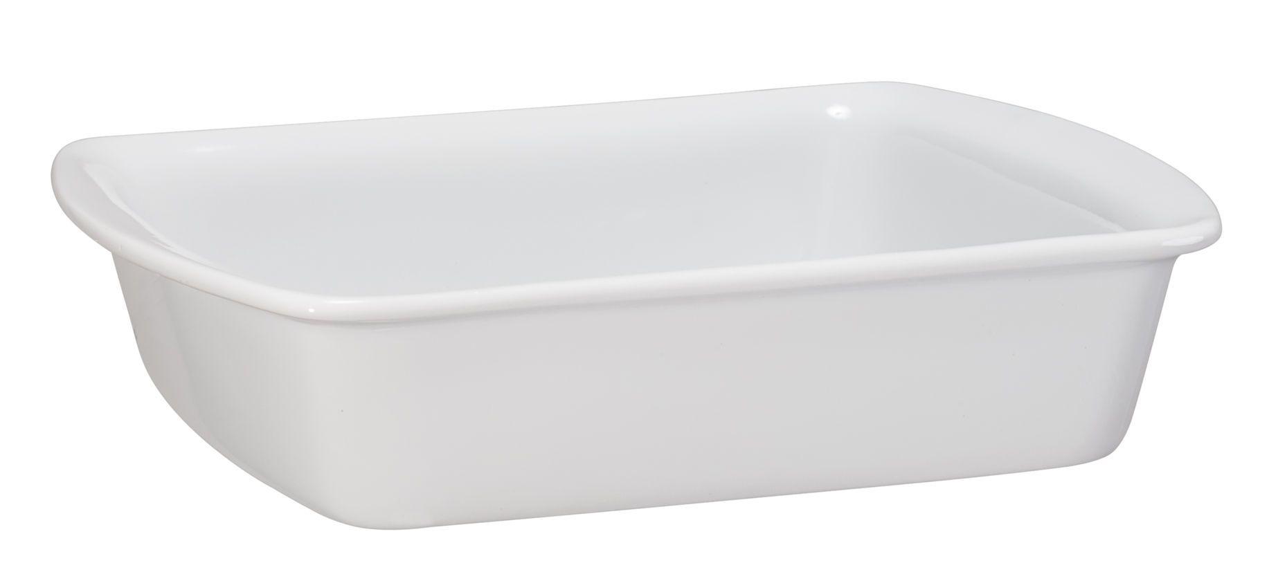 Assadeira Retangular 23x18cm Cerâmica Branca