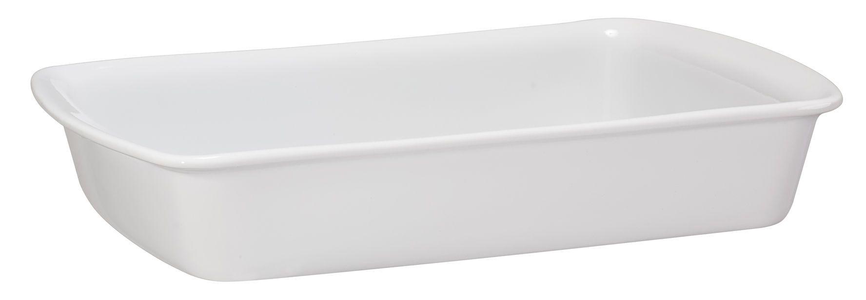 Assadeira Retangular 30x19cm Cerâmica Branca