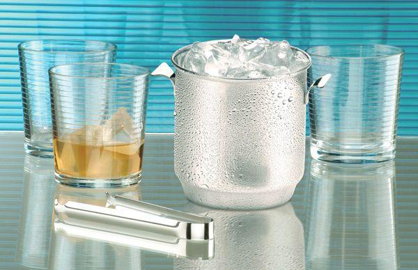 Balde para Gelo Bartender com Pinça 650ml