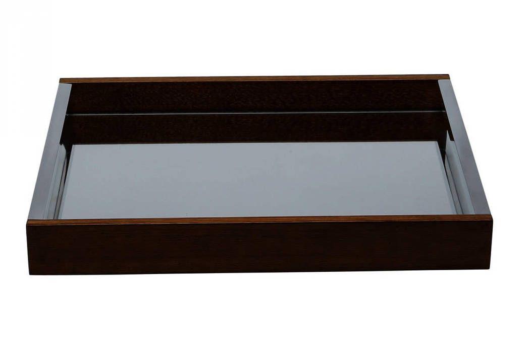 Bandeja de Madeira Com Espelho Naturals 55cm