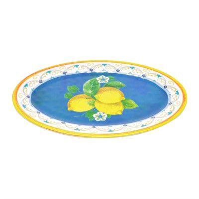 Bandeja Oval Lemon 41cm em Melamina