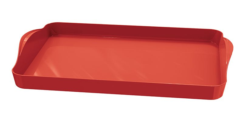 Bandeja Plástica 40,8 x 27,1 cm Plus Vermelha