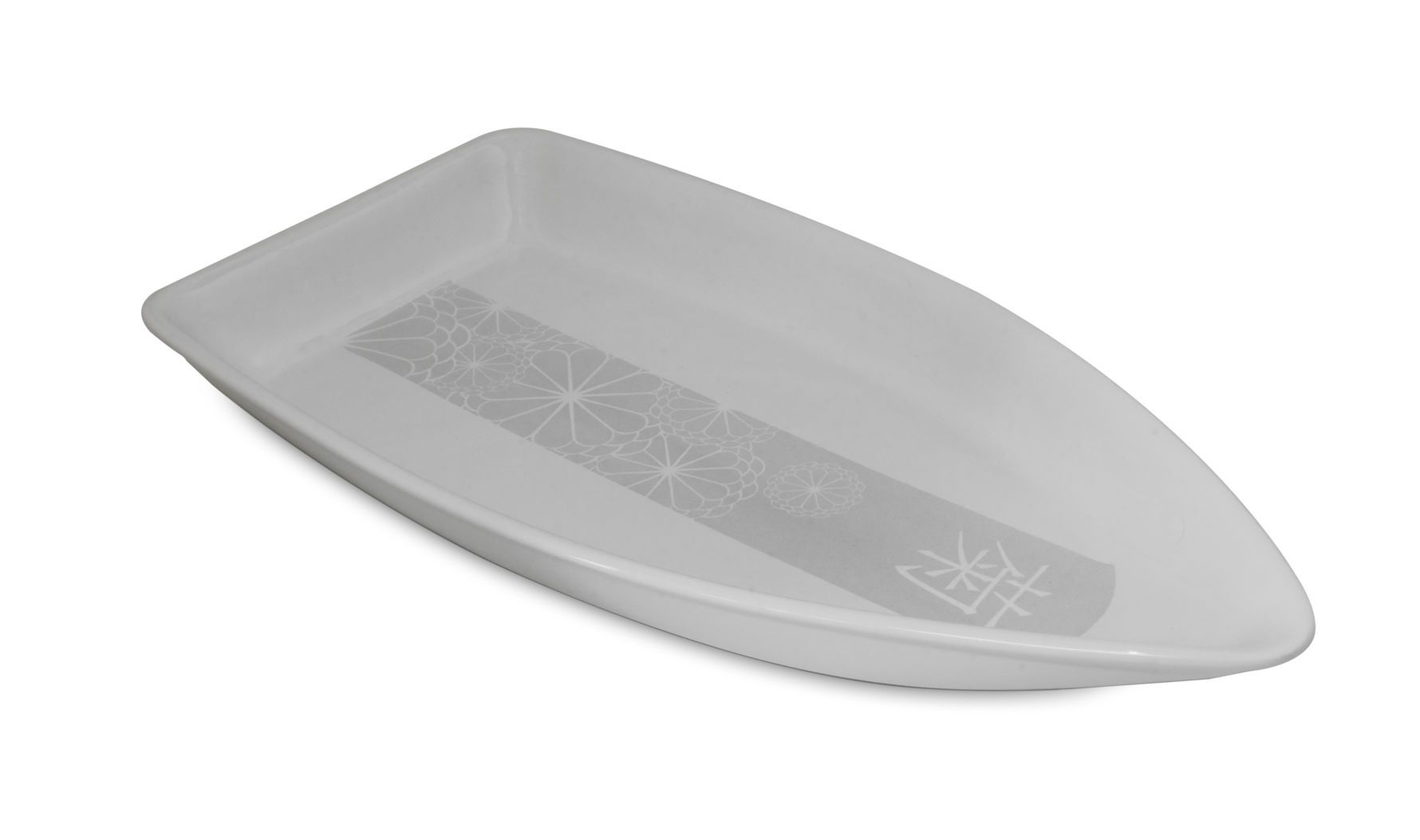 Barco 32,5 x 17 x 3,0 cm Cerâmica Linha Matsuri Branco